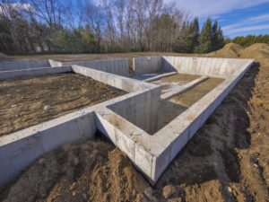 This is a site development project that has a basement poured in southern maryland